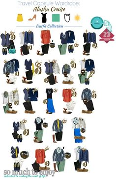 Travel Capsule Wardrobe Alaska Cruise Edition: Packing Light for an Alaska Cruise using several Stitch Fix pieces, plus where to shop for others! www.somuchtoenjoy.com #stitchfix #packinglight #travelwardrobe