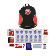 1 Person Backpack Emergency Kit containing essential survival supplies such as a day supply of Datrex Food and Water, flashlight, radio, blanket and more. Emergency Backpack Kit, Earthquake Kits, Emergency Water, Survival Supplies, First Aid Kit, Outdoor Life, Drinking Water, New Product, Backpacks