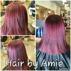 Violet red hair Facebook:Hair by Amie Instagram: hairbyamie_