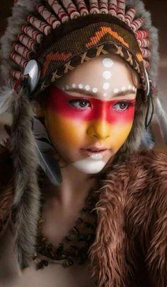 Makeup Halloween Indian beautiful 51 ideas for 2019 - # for . - Halloween makeup indian beautiful 51 ideas for 2019 – up - Native American Makeup, Native American Face Paint, Native American Models, American Indian Girl, American Indians, Maquillage Halloween, Halloween Face Makeup, Revelation Tattoo, Tribal Makeup