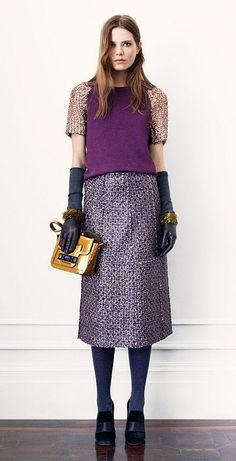 Tory Burch Fall 2013- purple texture #love