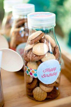 Milk & Cookies 1st Birthday Party Full of REALLY CUTE Ideas via Kara's Party Ideas | KarasPartyIdeas.com #CookiesAndMilk #1stBirthday #Party...