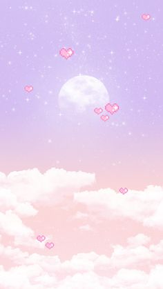 Glowing full moon background-INSIDE Korea JoongAng Daily kawaii wallpaper Source by kimsophiegerber Wallpapers Kawaii, Iphone Wallpaper Kawaii, Cocoppa Wallpaper, Cute Pastel Wallpaper, Soft Wallpaper, Aesthetic Pastel Wallpaper, Cute Cartoon Wallpapers, Cute Wallpaper Backgrounds, Pretty Wallpapers