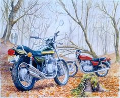 """Foto: Ilustración de Roy Barrett titulada """"Autumn tales"""", del que puedes conocer más desde la sección de #culturabiker de #DesguaceWeb http://desguaceweb.com"""