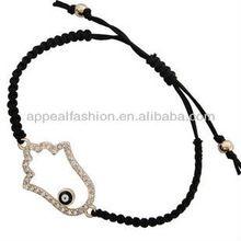черный сглаза горный хрусталь хамса рука бога фатима черной веревкой амулет браслет