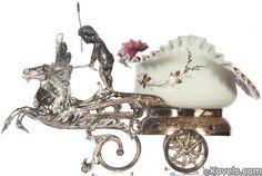 Antique Bride's Baskets  Bowls Carriage