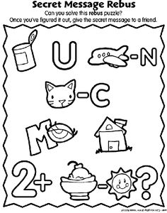 Secret Message Rebus coloring page Rebus Puzzles, Word Puzzles, Puzzles For Kids, Worksheets For Kids, Picture Puzzles, Mickey Mouse And Friends, Birthday Messages, Word Games, Brain Teasers