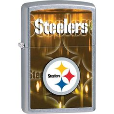 Pittsburgh Steelers chrome lighter is made in the USA by Zippo, the name in flame. The original Zippo liquid fuel lighter is the world's best pocket lighter. Steelers Gifts, Pitsburgh Steelers, Pittsburgh Steelers Logo, Gifts For Football Fans, Football Season, Nfl Arizona Cardinals, Lighting Logo, Lighter Fluid