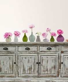 Loving this Vase Of Peonies Wall Decal Set on #zulily! #zulilyfinds