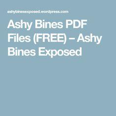 Ashy Bines PDF Files (FREE) – Ashy Bines Exposed