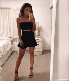14 Outfits negros que van súper bien en Primavera Best wishes together with the future Girly Outfits, Cute Casual Outfits, Pretty Outfits, Stylish Outfits, Dress Outfits, Summer Outfits, Fashion Outfits, Teen Party Outfits, Night Club Outfits