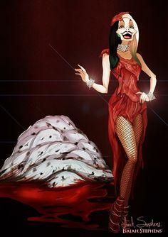 Cruella DeVil as Lady Gaga Disney Halloween: Cruella Zombie Disney, Disney Halloween, Princesas Disney Zombie, Disney Horror, Evil Disney, Disney Fan Art, Disney Style, Halloween Costumes, Disney Artwork