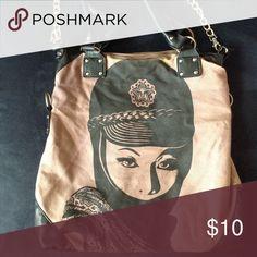 Obey Purse Purple canvas purse Obey Bags