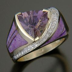 RANDY POLK DESIGNS:Garnet, Sugilite, Diamonds.