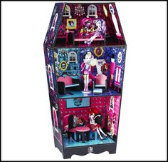 All about Monster High: Coffin Bean doll house!