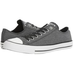a35a39c1e50a Converse Chuck Taylor All Star Washed Chambray Ox (Black White Black).