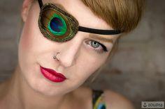 ⚓+Augenklappe+*Pfau*+⚓+von+SOULITA+auf+DaWanda.com