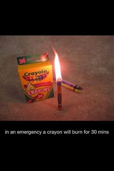 Awesome survival tip! #survival #crayons #awesome