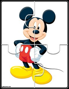 Printable Mickey & Friends Jigsaw Puzzles - Autism & Education FREE basic puzzles for early developing skills. Disney Jigsaw Puzzles, Jigsaw Puzzles For Kids, Puzzles For Toddlers, Math For Kids, Activities For Autistic Children, Autism Activities, Children With Autism, Kids Learning, Preschool Puzzles