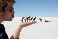Creative forced perspective photography