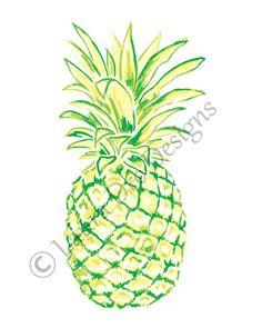 8x10 Pineapple Illustration-Lulu Lime