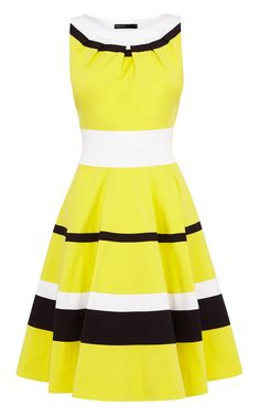 BRIGHT COLOUR BLOCK STRIPED DRESS | Luxury Women's atelier | Karen Millen
