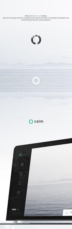 calm.com concept on Web Design Served , Hariswebdesign