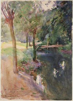 The Shadowed Stream  John Singer Sargent, c. 1900–20  Watercolor over graphite pencil on paper