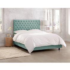 Skyline Tufted Velvet Upholstered Bed | from hayneedle.com