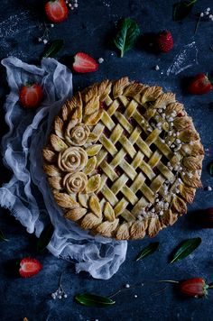 Coco e Baunilha: Pie de morango e ruibarbo