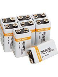 Amazonbasics 9 Volt Everyday Alkaline Batteries 8 Pack Alkaline Battery Emergency Radio Health