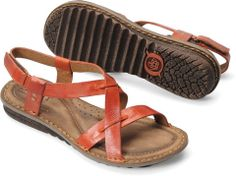 d738ecd39ee5 Naturally smooth full-grain leather enhances the earthy vibe of the  handmade Born Rainey Sling Sandals.