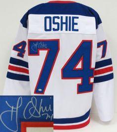 #oshie @Mary Sochi #nhl# auction TJ Oshie Team USA Signed Custom 1960 Throwback USA Jersey SI