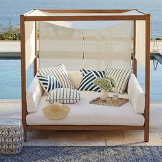 Why Teak Outdoor Garden Furniture? Daybed Covers, Outdoor Furniture, Pool Furniture, Daybed Canopy, Outdoor Living Room, Outdoor Decor, Furniture, Outdoor Daybed, Home Decor