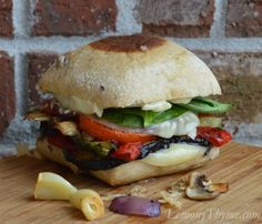 » Roasted Italian Veggie Grilled Cheese Sandwich {on Kalamata Olive Ciabatta} Lemony Thyme