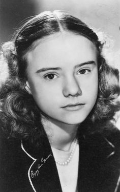 old movie stars photos | Peggy Ann Garner classic child actress