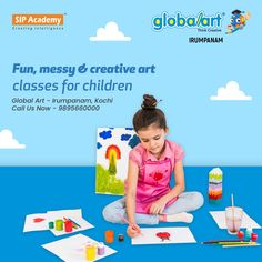 You might be looking for a creative outlet for your child, or to build on their natural creative ability. GLOBALART - The obvious place to start creative classes for kids. Your child will be submerged in the world of Creativity. Please come prepared to get messy! Join Globalart Irumpanam now. Limited Seats Only. Call us for more details: 98956 60000 #Globalart #Kochi #Irumpanam #Art #Creativity #Drawing #Imagination Creative Class, Creative Art, Kochi, Creative Outlet, Global Art, Your Child, Imagination, Children, Kids
