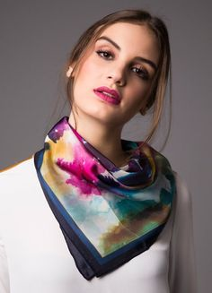 moniquilla — Home Silk Neck Scarf, Summer Outfits, Cute Outfits, Scarf Design, Summer Scarves, Neck Scarves, Fashion Outfits, Womens Fashion, Fashion Clothes
