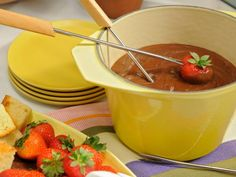Get Peanut Butter Chocolate Fondue Recipe from Food Network
