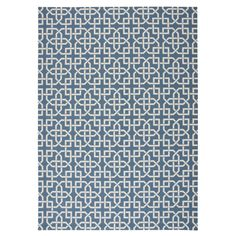Home and Garden Home and Garden Navy Rectangular Indoor/Outdoor Machine-Made Area Rug (Common: 8 x 10; Actual: 7.9-ft W x 10.1-ft L x 0-ft Dia)