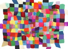 Maya Hayuk Passengers ll - Shamwow, 2011 Acrylic On Paper 16 x Maya, Show And Tell, Rainbow Colors, Bright Colors, Quilts, Blanket, Gallery, Illustration, Painting