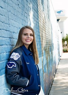 Letterman Jacket Pictures, Dance Senior Pictures, Varsity Letterman Jackets, League City, Hipster Outfits, Senior Portraits, Photography Tips, Cute Girls, Windbreaker