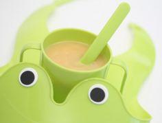 Babynahrung: Milchbrei mit Banane. Auch Babys wollen Ihr Essen schön angerichtet!