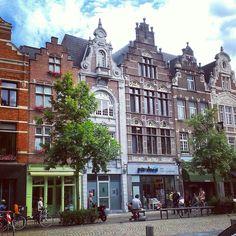 Belgian gabled houses in Mechelen Belgium.