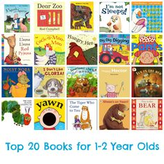 Top 20 Books for 1-2 Year Olds #bedtime #books #toddlers