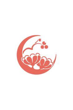 1月2日の花個紋|366日の花個紋:オリジナル家紋、あなたの花個紋でオーダーメイド。 Brand Identity Design, Logo Design, Web Design, Branding Design, Simple Flower Drawing, Simple Flowers, Logo Branding, Corporate Branding, Moon Logo