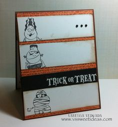 Trick or Treat Halloween Handmade Card by Vssweetideas on Etsy, $3.00