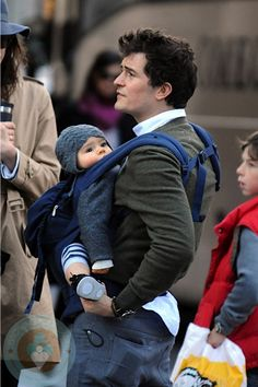 I am not as smooth as Orlando Bloom, but he's got the right idea. I'd carry the little guy around all day.    #ergobaby #idealmothersday #babywearing