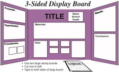 science fair board layout - Google Search