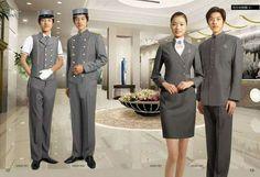 factory direct pice good fabric hotel doorman uniform More Hotel Uniform, Office Uniform, Uniform Ideas, Men In Uniform, Corporate Uniforms, Airline Uniforms, Staff Uniforms, Front Office, Uniform Design